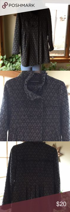 Steve Madden Wool Winter Coat Size M Black and Gray Steve Madden Coat Excellent Condition Steve Madden Jackets & Coats Pea Coats