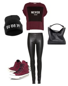 """Untitled #28"" by megsgalley on Polyvore featuring The Row, Pull&Bear, Converse, Burberry, women's clothing, women's fashion, women, female, woman and misses"