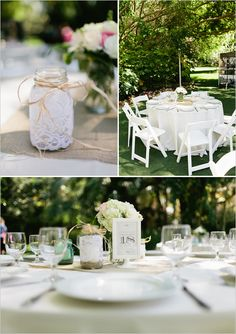 garden wedding ideas mason jar simple and gorgeous-I know I will get veto'd but cuuuute