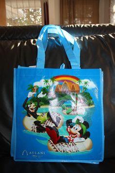 New Disney Aulani Reusable Tote Shopping Bag Hawaii Mickey Mouse Donald Goofy
