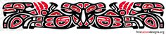 Haida style armband tattoo design