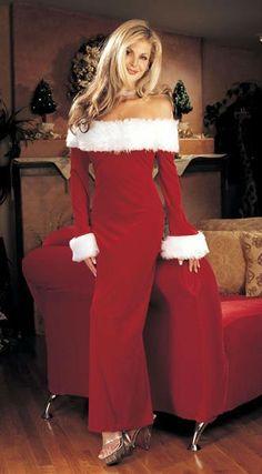 Nice Sexy Christmas Costume Dress For Woman Santa Festival Wear ...