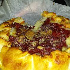 Torta rustica con patate gorgonzola e bresaola ...I love my daughter!