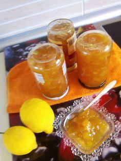 Μαρμελαδα λεμονι!! Cookbook Recipes, Cooking Recipes, Yami Yami, Preserves, Lemon, Fish, Canning, Meat, Preserve