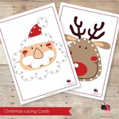Set of 9 lovely Lacing Cards by Busy Little Bugs!