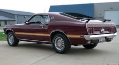 1969 Ford Mustang Mach 1 in icky brown...used date a guy who had one just like this!