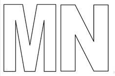 Moldes de letras do alfabeto em tamanho grande para imprimir! Letras tamanho grande - letras vazadas- moldes de letras para eva e feltro - ESPAÇO EDUCAR