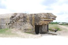 Blockhouse at Pointe du Hoc in Normandy, France