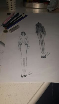 Fashion skecth karakalem stilistlik artistik cizim