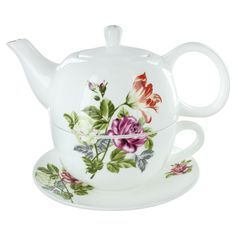 Summertime Flowers Bone China Tea for One