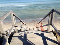 West beach stairs