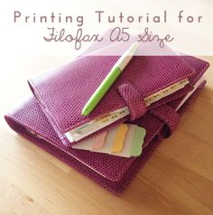 Printing Tutorial for A5 #filofax // http://limetreefruits.com/extra-printing-tips-for-filofax-planners/