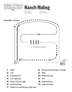 Rookie Ranch Riding Show Pattern. Checkout the Level 1 Championship Show Patterns now available online!