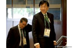 AIBA president C.K. Wu arrives at the IOC Session on Aug. 3 (ATR)