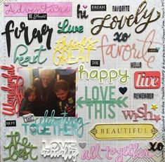 """""""Celebrating+Together""""+//typography+inspired+by+Zinia+A. - Scrapbook.com"""