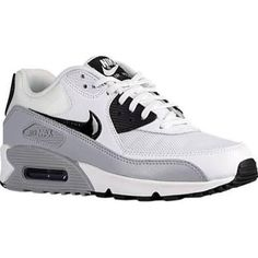 Womens Nike Air Max 90 Shoe White/Black/Wolf Grey Size 7 - Brought to you by Avarsha.com