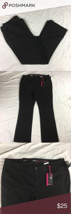 Style & Co Denim tummy control mid rise boot jeans Style & Co Denim black tummy control mid rise boot leg jeans   Women's size: 18W   Approx measurements: waist – 40; inseam – 32 ½ inches; rise – 11 1/2 inches   Machine washable   New with tags – see pictures Style & Co Jeans Boot Cut