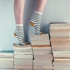 Amber Nausheen : #AmberNausheen Photo by @bookishbronte Two sets of stripes are better than one as bibliophile Bronte Huskinson (@bookishbronte) shows with her socks and beloved book collection. Not only do they take you to other worlds but they also make the greatest stripy pattern when piled up! she writes in her caption. #WHPstripes