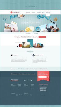 MOMENTO  | Rebranding by Dominik van Treel, via Behance