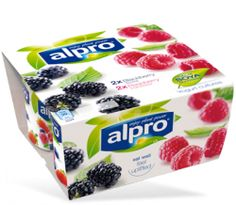 Alpro Blueberry & Alpro Cherry - yoghurt alternatives