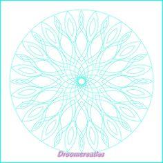 Download & print mandala for colorpainting nr 005 by Droomcreaties, €1.50