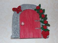 Fairy Door hobbit door fairy house fairy accessories elf door gnome door middle earth fairy garden valentines gift hobbit house (10.00 GBP) by magikallittlethings