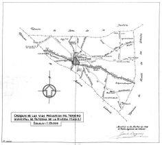 Croquis vías pecuarias Paterna de Rivera
