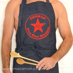 Personalised Five Star Kitchen Apron
