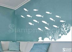 Hey, I found this really awesome Etsy listing at https://www.etsy.com/listing/223025005/under-the-sea-wall-decal-under-water