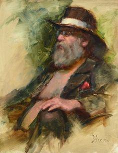 Jacob Dhein - Bob, Oil, 18x14, 2013