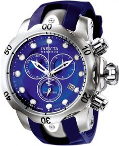 INVICTA Venom Men 53.7mm Stainless Steel Stainless Steel Blue dial G10.211 Quartz