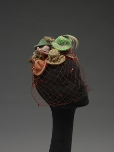 Bes-Ben hat of tiny hats, 1950s, via The Indianapolis Museum of Art.