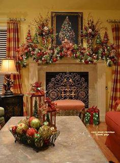 Beautiful Christmas family room
