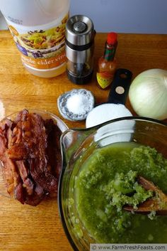 Green Tomato Bacon Jam--this savory sweet freezer jam is amazing mixed with ground meat for burgers.
