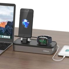 Oittm Apple Watch iPhone iPad Charging Dock Station 5 in 1 Nightstand Mode with USB Connectivity. Cool Tech Gadgets, Gadgets And Gizmos, Apple Watch Iphone, Ipad Stand, Gadget Gifts, Docking Station, Iphone Cases, Usb, Student Living