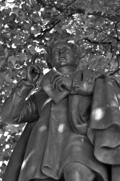 On College Street by Trinity College, you'll find this striking statue of poet and lyricist Thomas Moore, known for writing the lyrics to th...