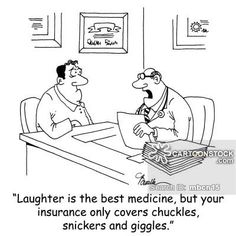 Laughter is the best medicine, so read this joke book three times a day after meals. Description from cartoonstock.com. I searched for this on bing.com/images
