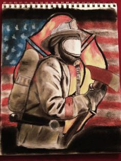 Jeremys Firefighter drawing for his dad