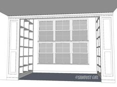 Today I'm sharing the Built-in Bookshelf plans for Fawn's library .Her bookshelveswere created from one plan. One side of her room was was slightly shorter than the other side. We s…