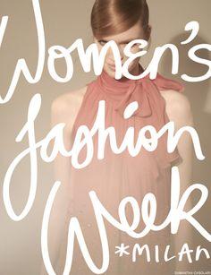 via T Magazine  #typography #fashion