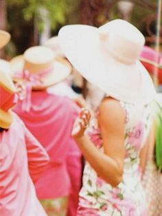 Southern girls love their big hats. Yes we do!!!