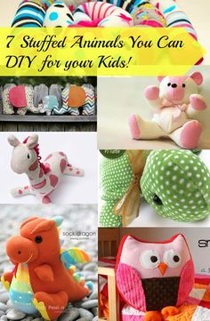 7 Stuffed Animals You Can DIY for your Kids! - Fabulessly FrugalStuffed animal toy is one of Kid's favorite.You can give your kids a personalised present without spending much. This is actually a great way to save money. Sewing Toys, Baby Sewing, Sewing Crafts, Sewing Stuffed Animals, Stuffed Animal Patterns, Stuffed Animal Diy, Homemade Stuffed Animals, Sewing For Kids, Diy For Kids