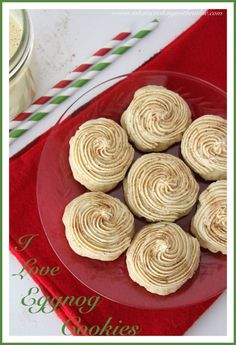 I Love Eggnog Cookies is for all of you that love Eggnog too!  The perfect Holiday Cookie by whatscookingwithruthie.com #recipes #cookies #christmas