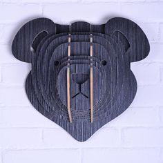teddy bear for children,wooden animal head for wall decor,wood head wall hanging,mdf decor,crafts home decoration,good wood wall $95.00