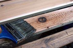 DIY antiqueing glaze for wood
