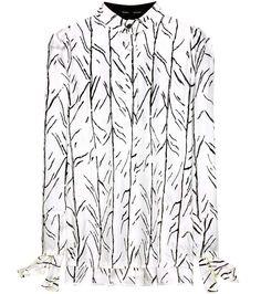 PROENZA SCHOULER Printed silk shirt. #proenzaschouler #cloth #tops