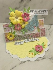 Fancy Fold Cards, Folded Cards, Dawns Stamping Thoughts, Easel Cards, Mothers Day Cards, Craft Tutorials, Pattern Paper, Birthday Cards, Decorative Boxes