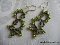 Supełkologia: 106 Earrings tatting