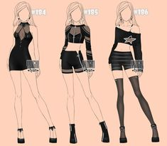 [1/3 open] Auction Outfits famale BW 184-186 by YuiChi-tyan