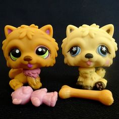 Littlest Pet Shop 662 1157 Chow Chow Dog Set Hasbro 2007 LPS Toy